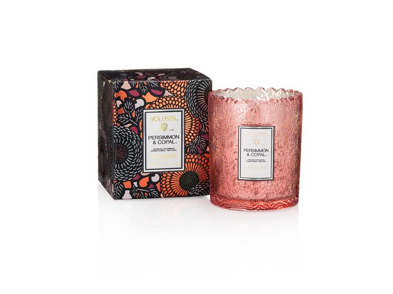 Voluspa Scalloped Edge Candle - Persimmon & Copal