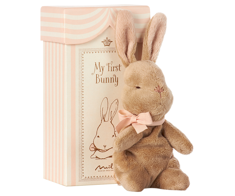 Maileg, My first bunny in box (rosa)