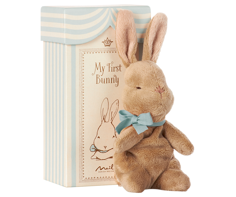 Maileg, My first bunny in box (ljusblå)