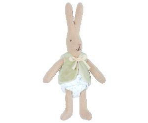 Maileg, Micro Rabbit med grön väst