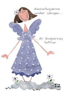 Vykort Dammtussarna, lila klänning (TJ Produktion)