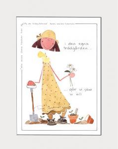 Tavla med illustration av Tina Järdhult