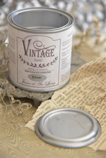 Jeanne d´Arc Living Vintage Paint - Silver metall-200ml
