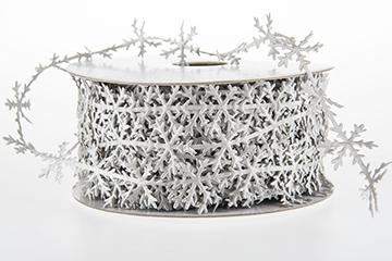 Band snöflinga, silver