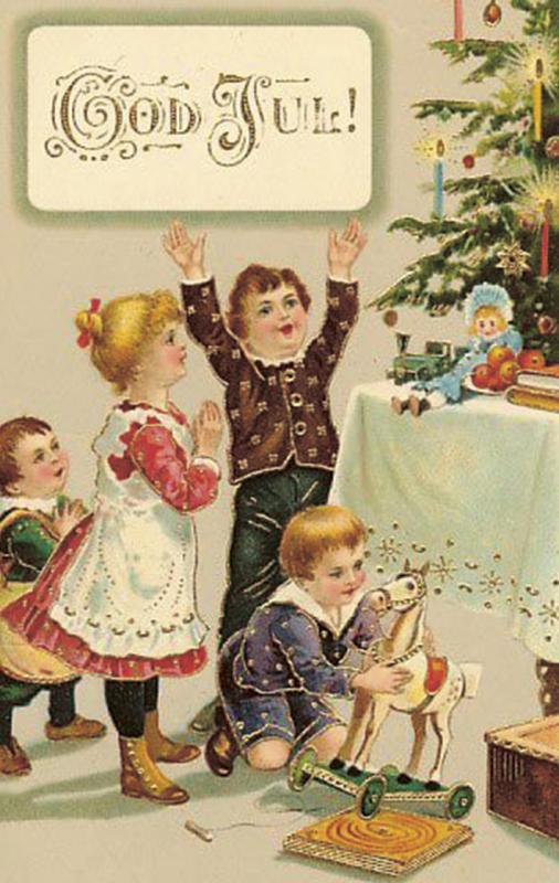 Kort från Sköna Ting - Jul - Paketkort; barn