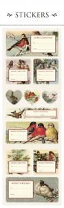 Julklappsetiketter jul fåglar - Sköna Ting