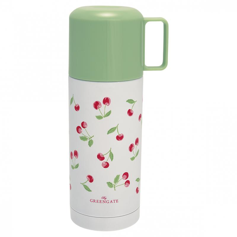 GreenGate Termos Cherry White 350ml