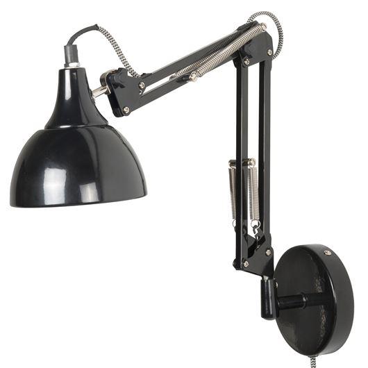 IB Laursen Vägglampa i arkitektmodell, svart