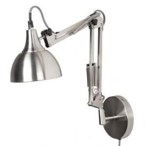 IB Laursen Vägglampa i arkitektmodell, silver