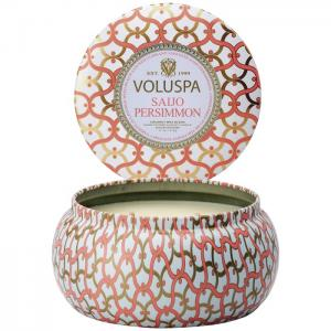 Voluspa 2-wick in tin - Saijo Persimon (doftljus)