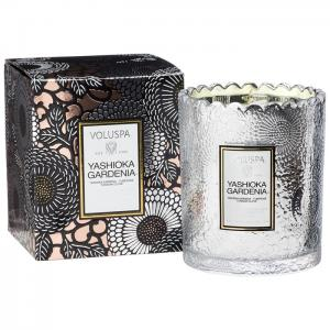 Voluspa Scalloped Edge Candle - Yashioka Gardenia(doftljus,