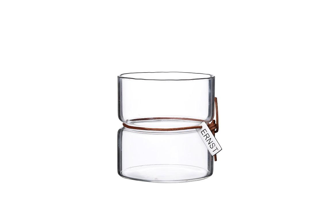 ERNST Vas/värmeljuslykta i glas- Större