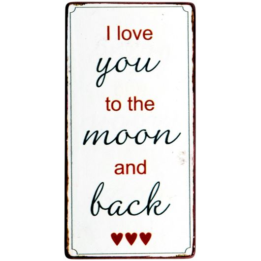 """IB Laursen Magnet """"I love you to the moon and back"""""""