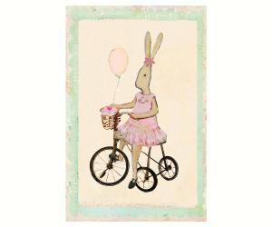 Kort - Maileg Rabbit girl on bike