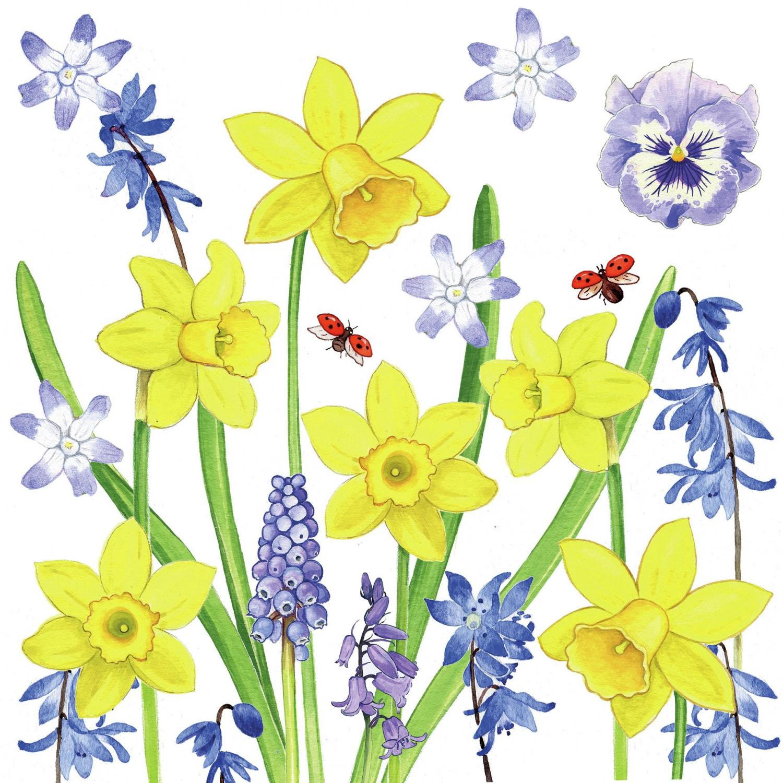 Ambiente Servetter - Narcissus Love- Kaffe