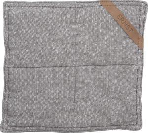 ERNST Grytlapp Halvlinne 25x25cm, grå