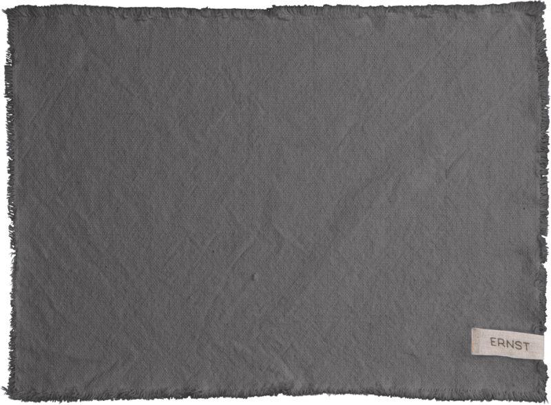 ERNST tablett grå med fransar