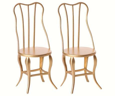 Maileg, Vintage chair micro - guld