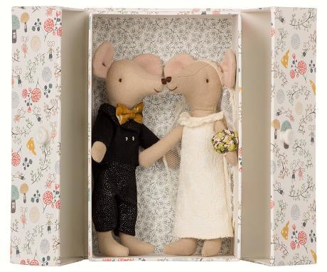 Maileg, mus Bröllopspar i box