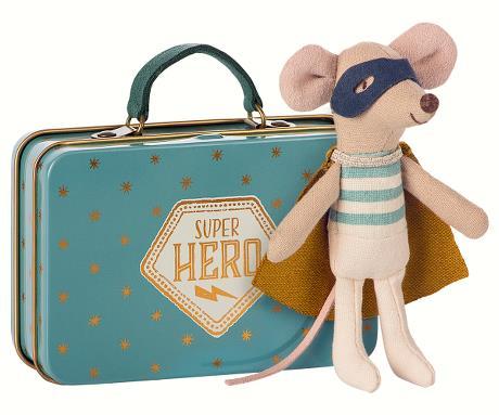 Maileg, Mus (mini) Superhjälte i väska, lillebror