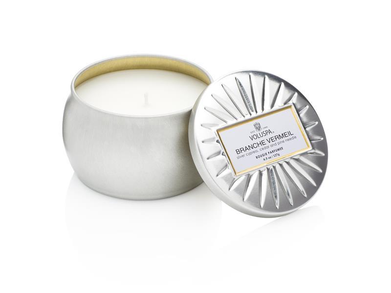 Voluspa Decorative Tin Candle Branche Vermail (doftljus)