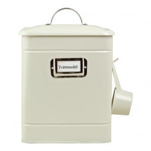 Tvättmedelsburk med skopa, Hilma (creme)