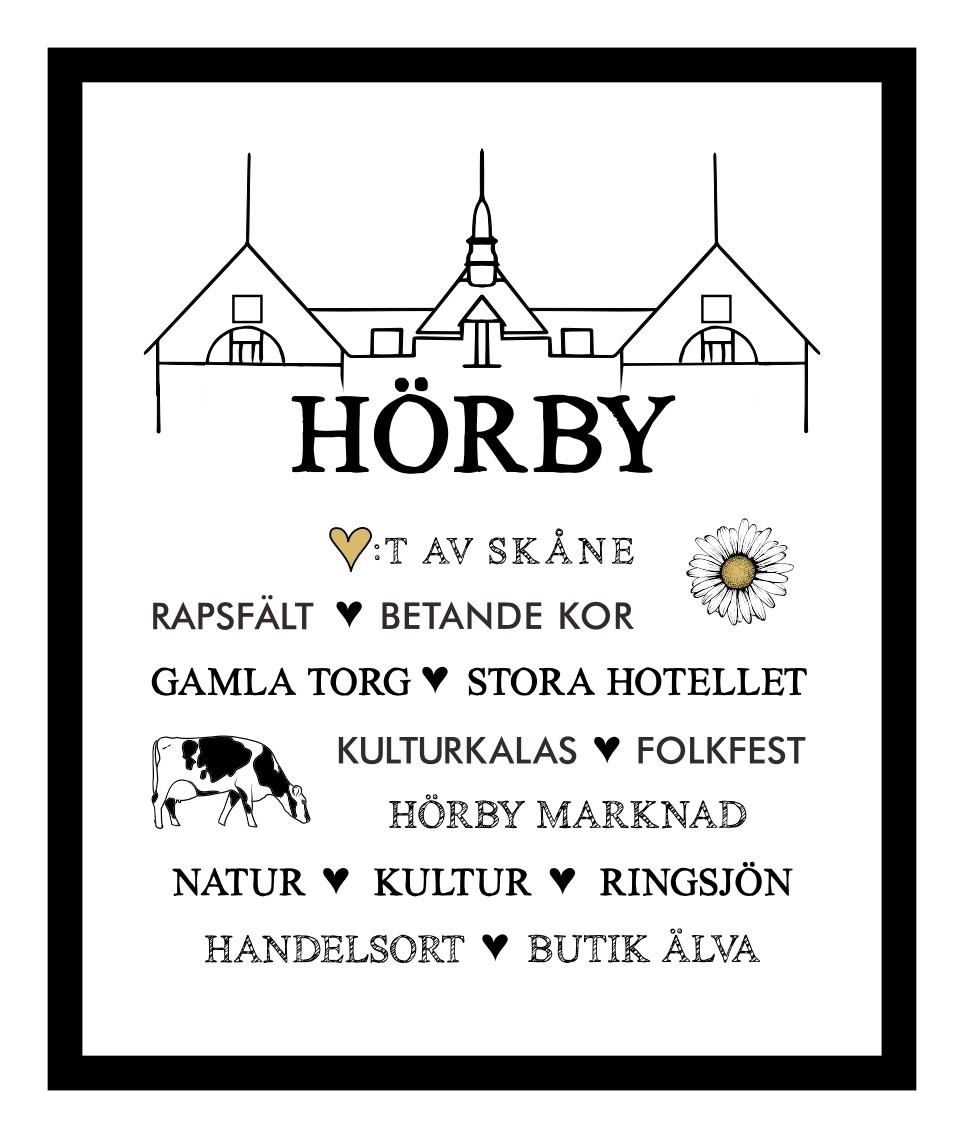 """Tavla med ram """"Hörby"""""""