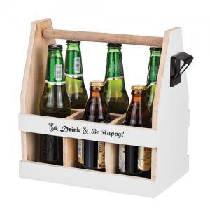 Låda till 6 flaskor, inkl kapsylöppnare - Eat, drink & be happy!