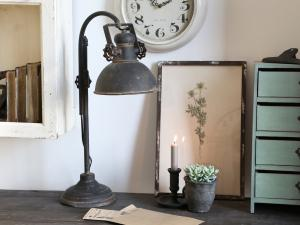 "Chic Antique Bordslampa ""Factory"" - industristil"