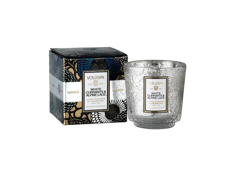 Voluspa Pedestal, mini (doftljus) - White Currants & Alpine Lace