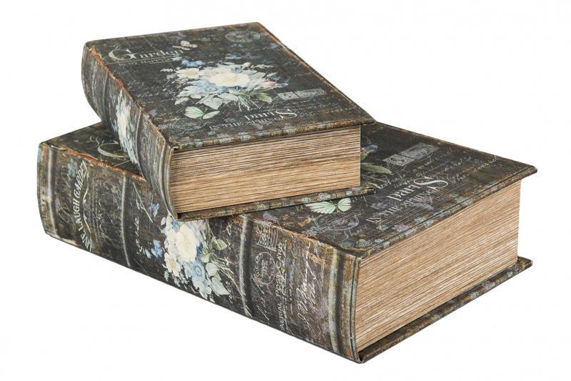Boklåda/Bokbox/Bokgömma Blom Vintage - Stor