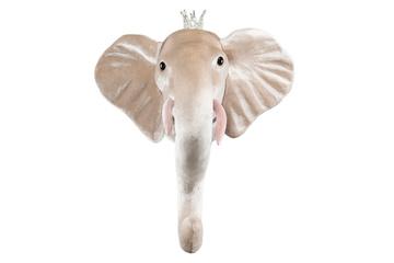 Väggprydnad Djurhuvud Elefant- Guld betar