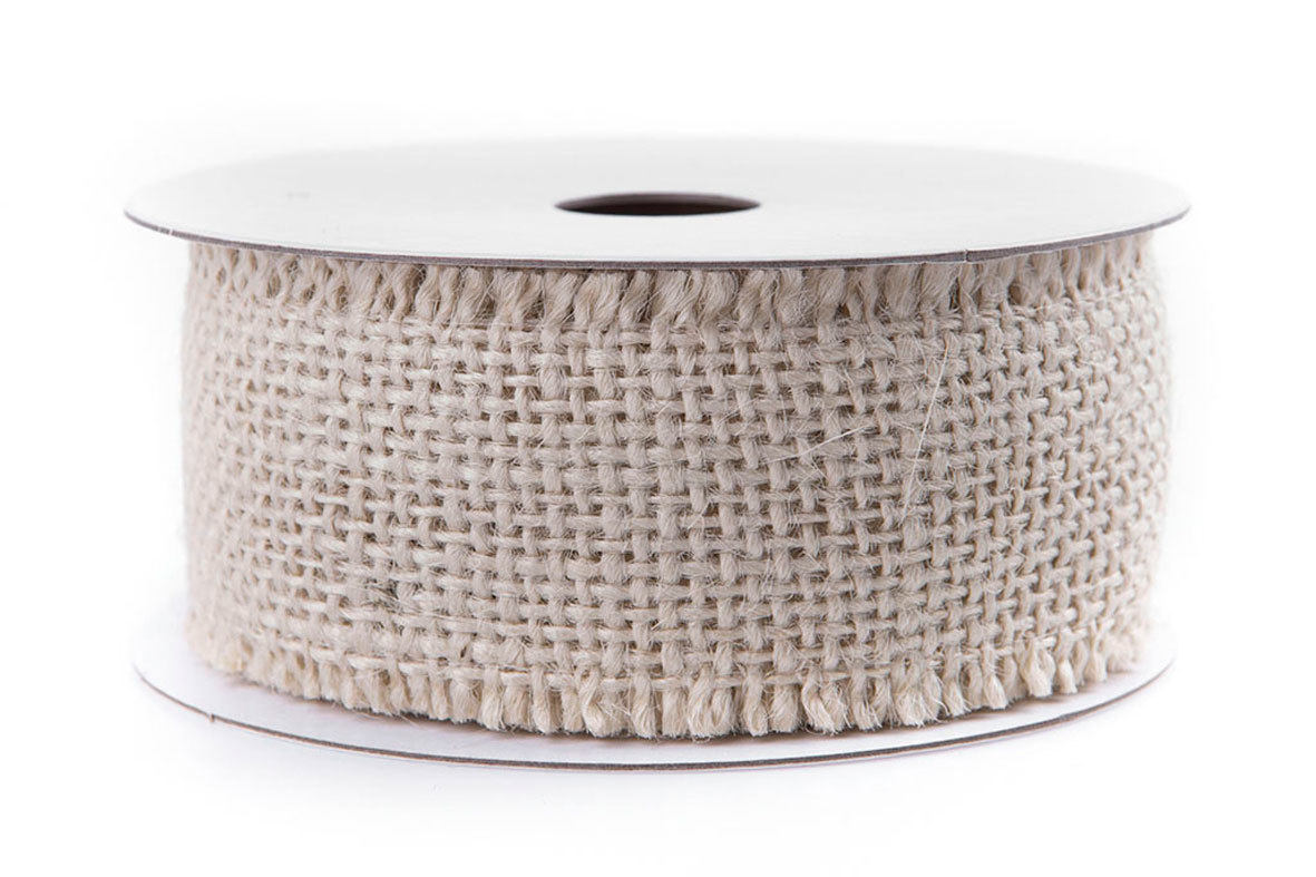 Band Jute Creme- Rulle