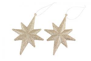 Glittrig stjärna (champagnefärgad)