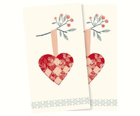 Servett - Maileg Jul, Christmas heart