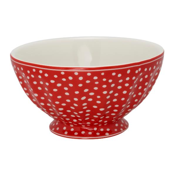 Greengate French Bowl XL, Red dot