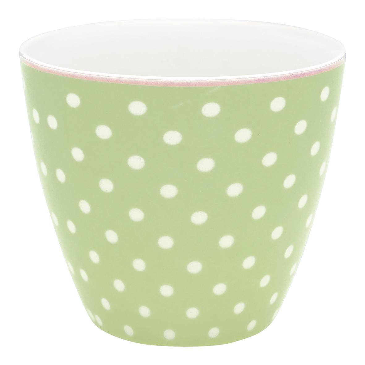 GreenGate Lattemugg Spot pale green