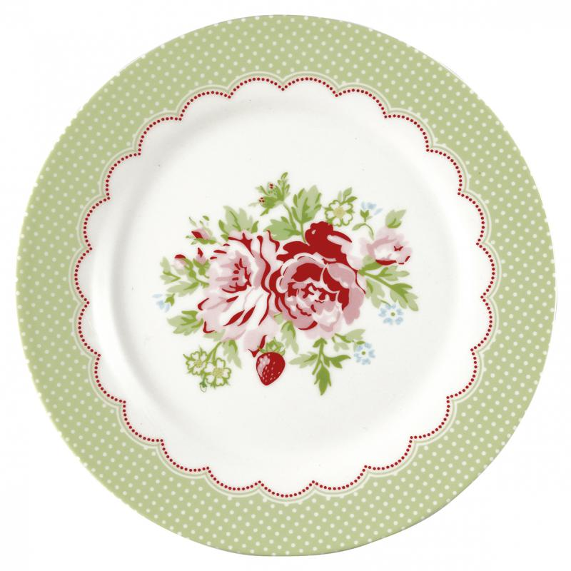 GreenGate Assiett Mary white