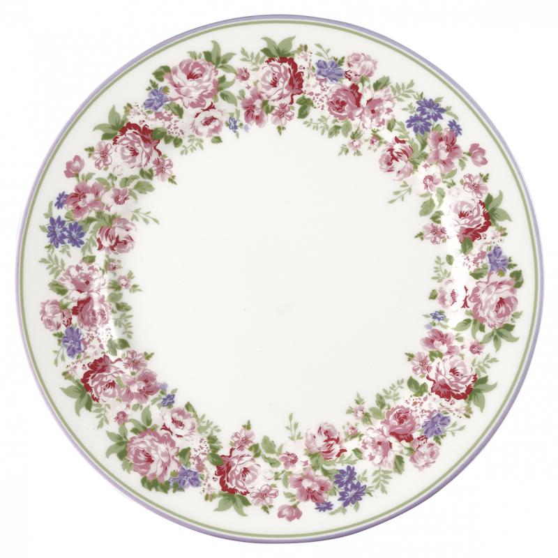 GreenGate Assiett Rose white