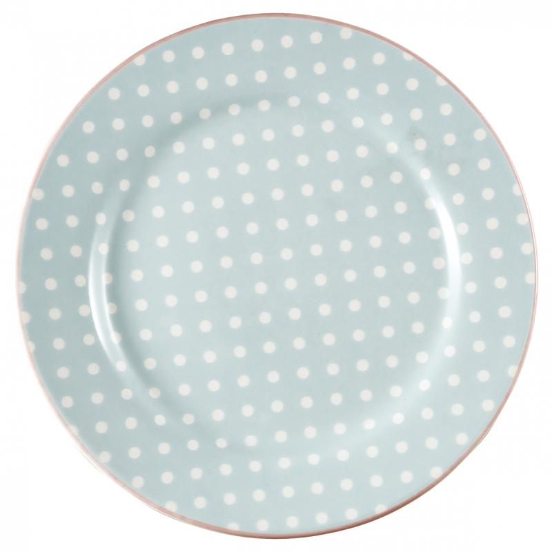 GreenGate Assiett Spot pale blue