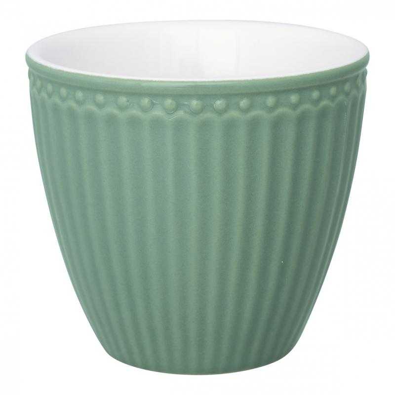 GreenGate Latte Mugg Alice dusty green