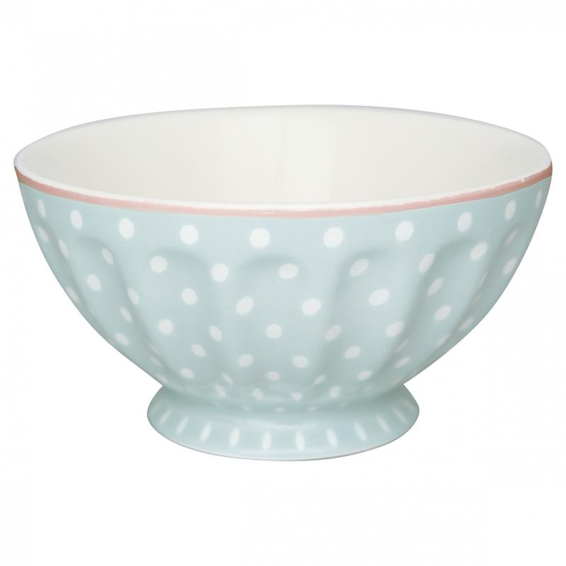 Greengate French Bowl XL, Spot Pale Blue