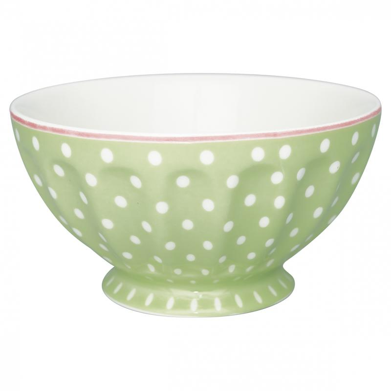 Greengate French Bowl XL, Spot Pale Green