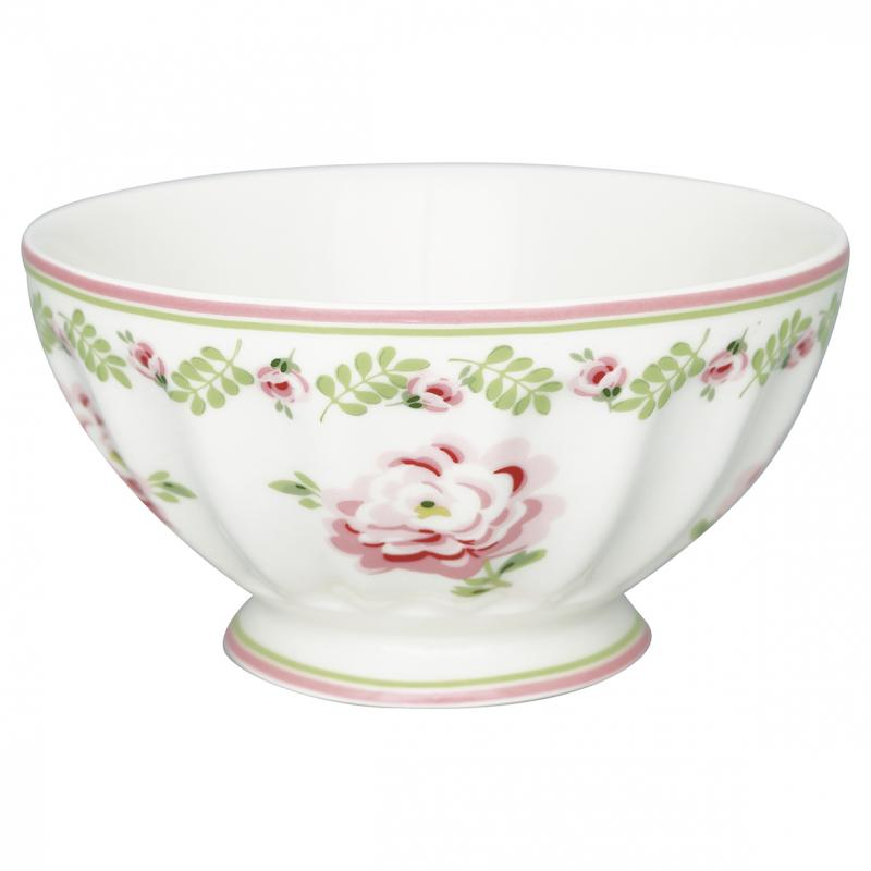 Greengate French Bowl XL, Lily Petit White
