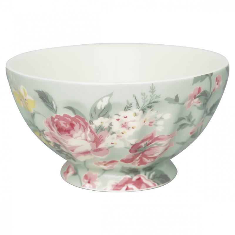 Greengate French Bowl XL, Josephine Pale Mint