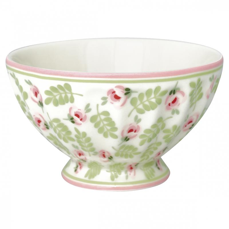 Greengate French Bowl Medium, Lily Petit White