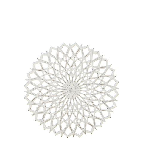 Carve Tempeltavla rund, vit/guld (dia 60 cm 770-500-10)