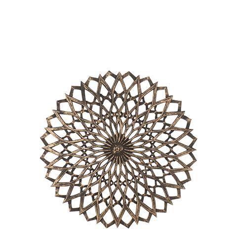 Carve Tempeltavla rund, svart/guld (dia 60 cm 770-500-60)