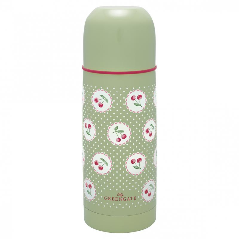 GreenGate Termos, Cherry Berry Pale Green 300ml