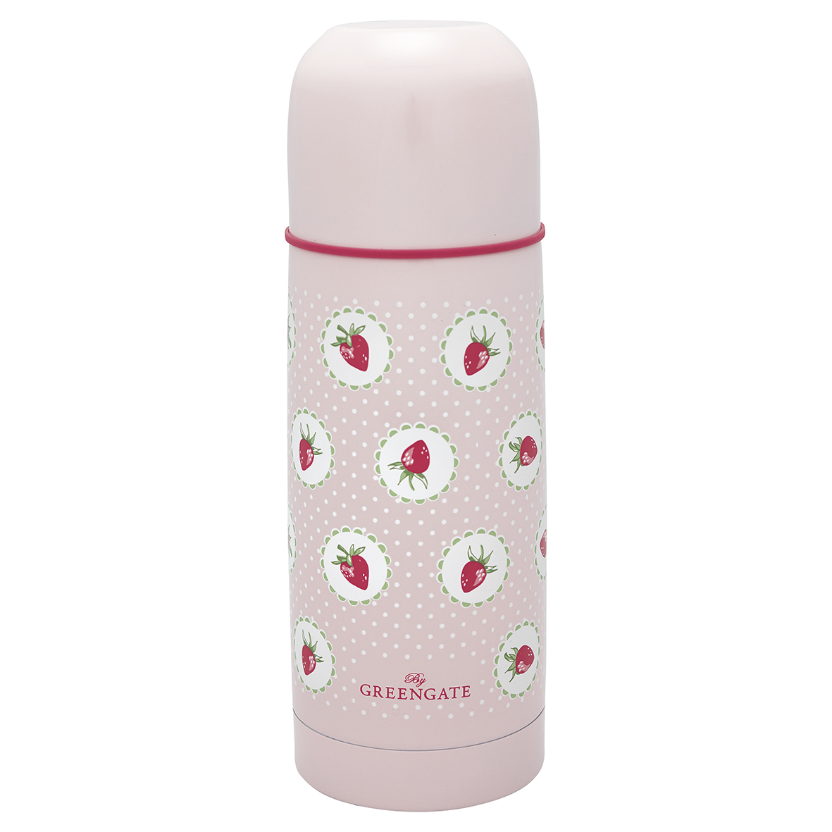 GreenGate Termos, Strawbery Pale Pink 300ml